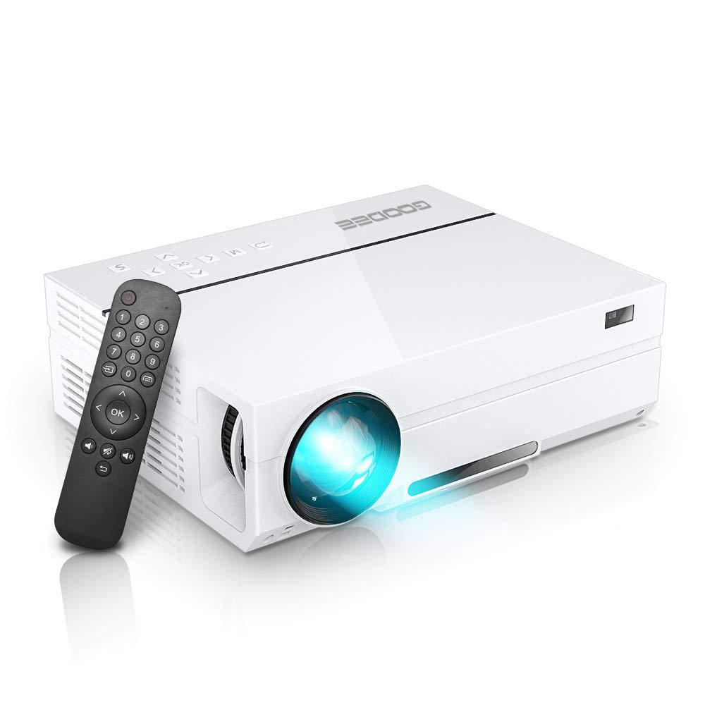 GooDee プロジェクター 1920*1080リアル解像度 4000ルーメン 台形補正 ネイティブ 1080PフルHD&1677万色 パソコン/スマホ/タブレット/ゲーム機接続可能 USB*2/HDMI*2/AV/VGA対応 スピーカー2つ内臓 ホーム/ビジネスプロジェクター 日本語取扱書 B07FR4YCWJ
