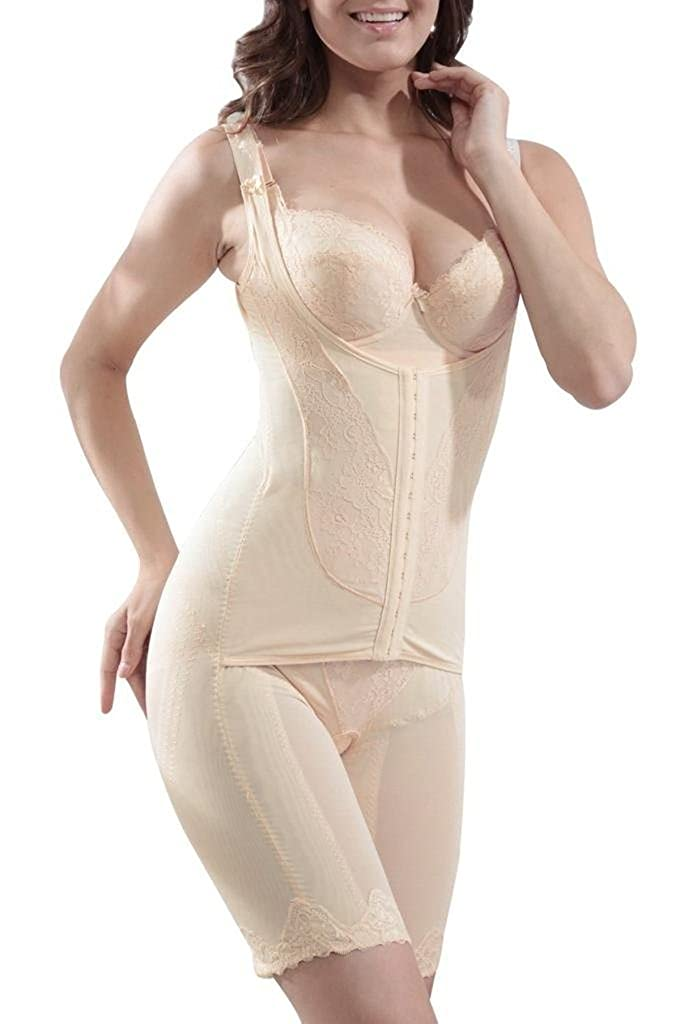cb982346ab Supplim Women s Body Shaper Waist Cincher Underbust Corset Bodysuit  Shapewear at Amazon Women s Clothing store