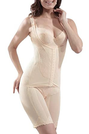 47c992fbb3 Supplim Women s Body Shaper Waist Cincher Underbust Corset Bodysuit  Shapewear