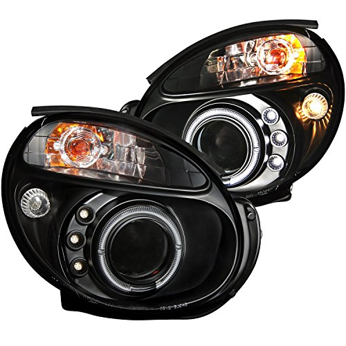 Anzo USA 121436 Black Halo Projector Headlight with Clear Lens for Subaru (Impreza Clear Body)