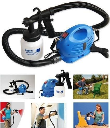 Arg Health Care Zoom Ultimate Electric Professional Paint Portable Spray Painting Machine Compressor And Gun Blue With White Standard Size