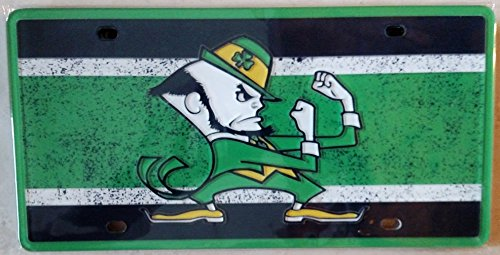 Notre Dame Fighting Irish VINTAGE Style Deluxe Laser License Plate Tag University of