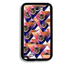 Shawnex Springink Hipster Cat Face Triangles Thinshell Case Protective Note 2 Case