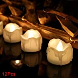 GETMORE7 LED Flameless Candle , Simulation Beautiful Real Wax Battery Operated Candle Lamp Romantic 2 Light Colors