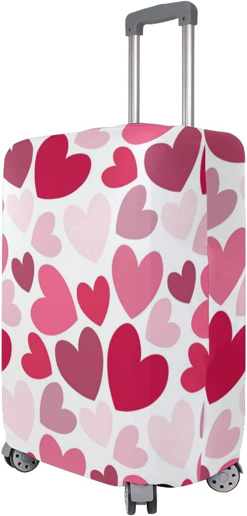 3D Valentine Day Print Luggage Protector Travel Luggage Cover Trolley Case Protective Cover Fits 18-32 Inch