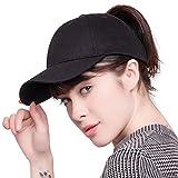 FURTALK High Bun Ponytail Baseball Cap Hat Adjustable Cotton Trucker Baseball Cap Hat for Women Girls