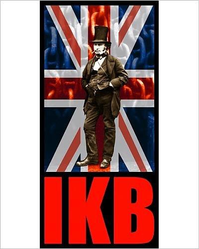 10x8 Print of Isambard Kingdom Brunel, IKB union jack flag - T-shirt / poster print design (Art Union Jack Flag T-shirt)