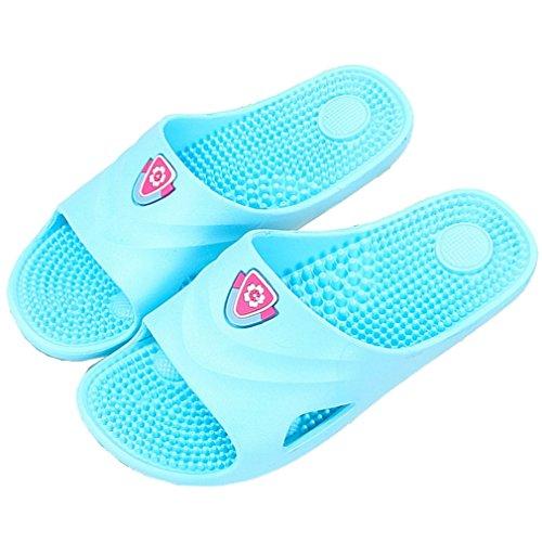 Spa Massage Tofflor Hushåll Badrum Dusch Sandal Skor För Kvinnor Män Med Samsay Blå