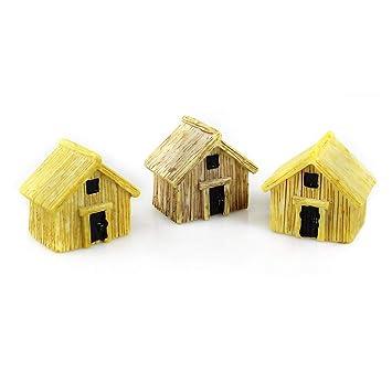 Danmu Art 3 Piezas Mini Casa de Resina en Miniatura casa Hada jardín Micro Paisaje hogar