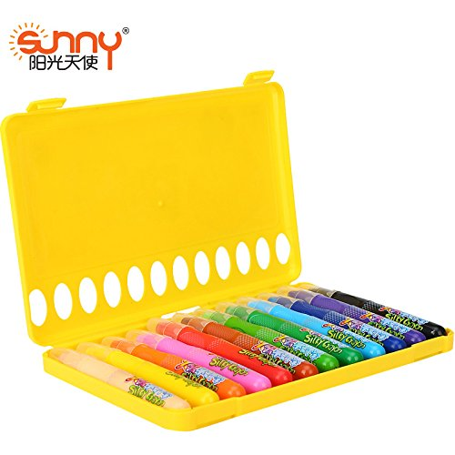 Crayon Sharpener Costume (Embiofuels(TM) Sunny 12 colors Silky crayon chalks kids crayons art pen pastel Drawing painting for children)