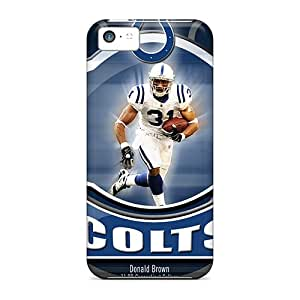 Iphone 5c DMQ9556tAtq Custom Lifelike Indianapolis Colts Pattern Protector Hard Cell-phone Case -IanJoeyPatricia