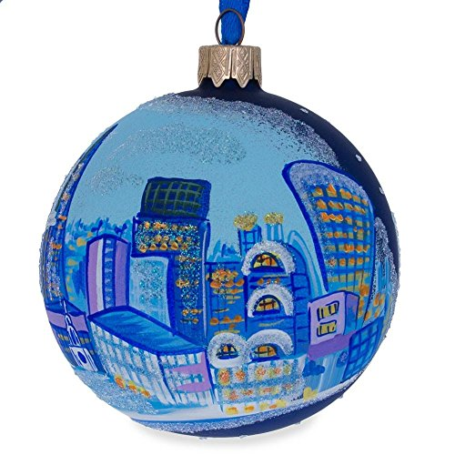 (BestPysanky London City, Great Britain Glass Ball Christmas Ornament 3.25 Inches)