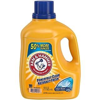 Arm & Hammer Clean Burst, 100 Loads Liquid Laundry Detergent, 150 Fl oz
