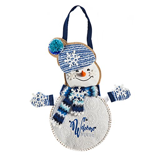 Evergreen Winter Snowman Outdoor Safe Door Hanger