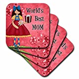 3dRose cst 40744 1 Worlds Best Mom in - Best Reviews Guide