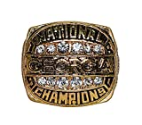 UNIVERSITY OF GEORGIA BULLDOGS (Rodgers) 1980 NCAA BCS NATIONAL CHAMPIONS Go Dawgs Rare & Collectible Replica NCAA College Football Gold Championship Ring with Cherrywood Display Box
