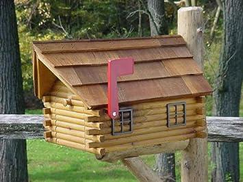Merveilleux Cedar Log Cabin Mailbox