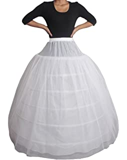 XYX Petticoat Underskirt Wedding petticoat bridal Crinoline 6-hoop 2 layer white