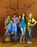 HANNAH MONTANA (Miley Cyrus, Billy Ray Cyrus, Dylan Riley Snyder, Jason Earles, & Emily Osment) 11x14 Cast Photo Signed In-Person