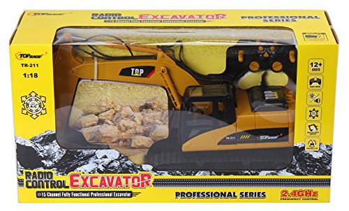 Top Race Tr 211 15 Channel Professional Rc Excavator Heavy
