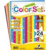 Romitec 4306, Bloco Para Educação Artística Color Set Criativo 24Folhas, Bloco, Multicolor, A4, pacote de 24