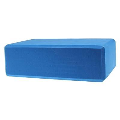 Nalmatoionme Brique Bloc de yoga moussant mousse Bloc Maison exercice Pilates Outil (Bleu)