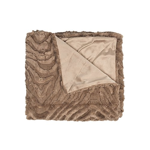 Decorative Reversible Faux Fur Amp Mink Throw Blanket 50 X 60 Box Pattern Taupe Buy Online In Cayman Islands At Cayman Desertcart Com Productid 39326222
