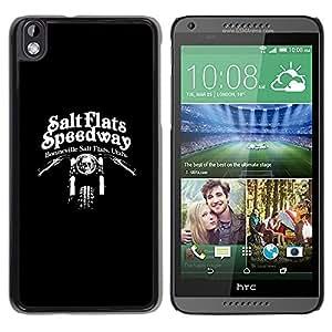 Be Good Phone Accessory // Dura Cáscara cubierta Protectora Caso Carcasa Funda de Protección para HTC DESIRE 816 // Speedway Motorcycle Black Biker