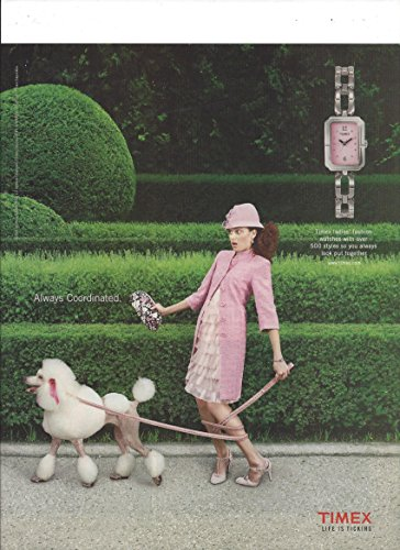 print-ad-for-2004-timex-watches-life-is-ticking-lady-poodle-scene