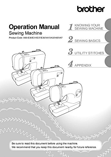 Brother CE8080 CE8080PRW Sewing Machine Owners Instruction Manual