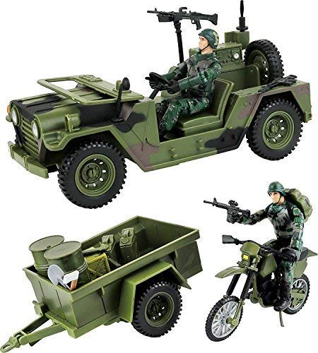 Click N' Play Military Logistics Transport Unit 16 Piece Play Set with Accessories. from Click N' Play