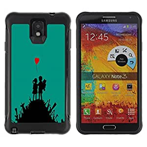 BullDog Case@ cute love art heart boy girl war fight Rugged Hybrid Armor Slim Protection Case Cover Shell For Note 3 Case ,N9000 Leather Case ,Leather for Note 3 ,Case for Note 3 ,Note 3 case