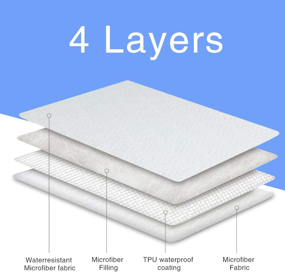 Pattern 1, Twin 39x75 CHHKON Mattress Pad Protectors,Breathable Mattress Pad Cover,Original Design Pattern,Super Soft Encasement