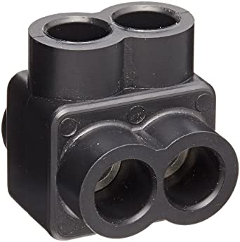 """Morris Products 97102 Insulated Single Entry Splice, Black, 4 - 14 Wire Range, 1/8"""" Allen Hex, 1.2"""" Length, 1.45"""" Height"""