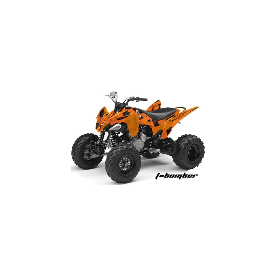 AMR Racing Yamaha Raptor 250 ATV Quad Graphic Kit   T Bomber Orange