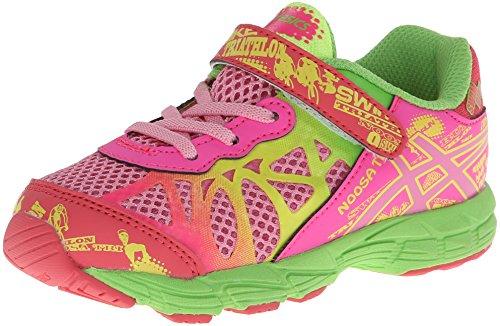 Asics Noosa TRI 9 TS Running Shoe (Toddler),Petal Pink/Hot Pink/Apple Green,4 M US - Running Sports Tri