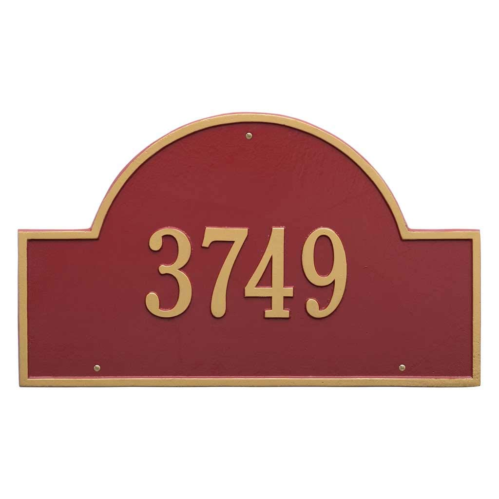 Comfort House Address Plaque - Decorative Metal Address Sign Personalized with Your House Number J0130 Wall Mount