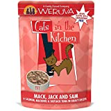 Cheap Weruva Cats In The Kitchen Mack, Jack & Sam With Mackerel, Skipjack & Salmon In Gravy Cat Food, 3Oz Pouch (Pack Of 8)