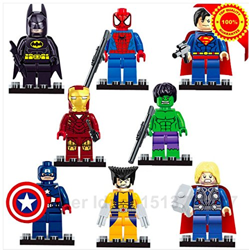 Avengers Marvel DC Super Hero star wars minifigures Building Blocks bricks kids Toys Superman Batman spiderman lego compatible