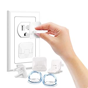 Outlet Covers Baby Proofing, Baby Safety Plug Covers with Corner Protectors, Baby Safety Kit with Child Proofing and Corner Guards, Keep Safe Prevent Baby from Shock
