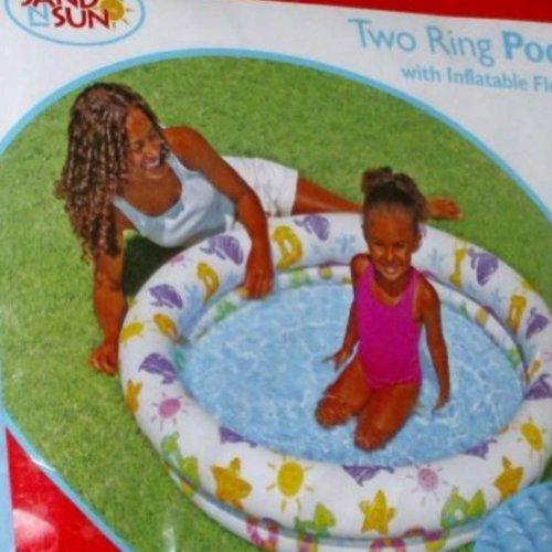 Sand 'N Sun Inflatable Vinyl Kids Two Ring Swimming Splash Pool for $<!--$14.88-->