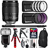 Canon 18-135mm IS USM Lens + Pro Flash + UV-CPL-FLD Filters + Macro Filter Kit + 72'' Photo/Video Monopod + Table-Top-Tripod + 64GB Class 10 Memory Card+ Backpack - International Version