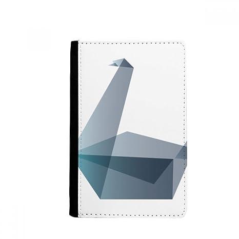 beatChong Origami Ganso Abstracto Geométrico Pasaporte Forma El Bolso De Viaje Portatarjetas De La Caja Cubierta