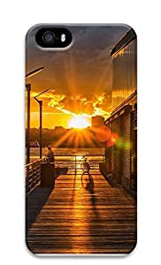 iPhone 5 5S Case landscapes nature sunset fishing 9 3D Custom iPhone 5 5S Case Cover