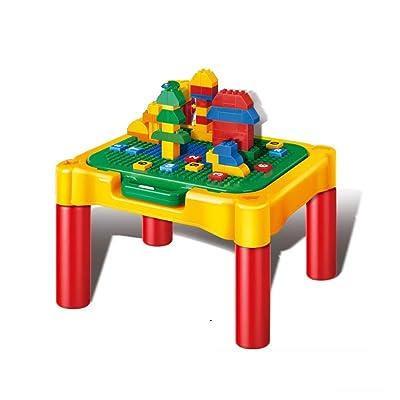 AFCITY-toy Mesa Construye y Aprende, Mesa De Aprendizaje De Bloques De Construcción Multifuncionales Mesa De Juego De Bloques De Construcción De Bloques De Lucha For Niños Mesa de Juego para bebés: Hogar