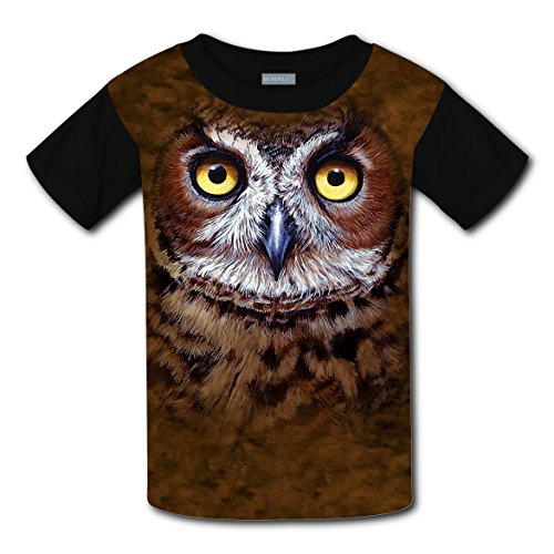 Great Horned Owl Head Light Weight Tee Shirts 2017 The Latest Version For girlsfree Postage]()
