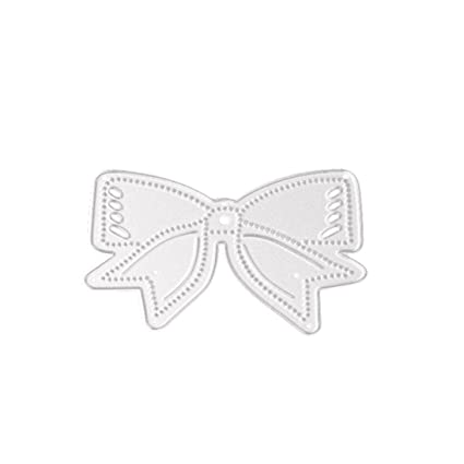 Stencil Bow Tie ZTY66 Metal Silver Cutting Dies For DIY Scrapbooking Embossing Album Paper Card