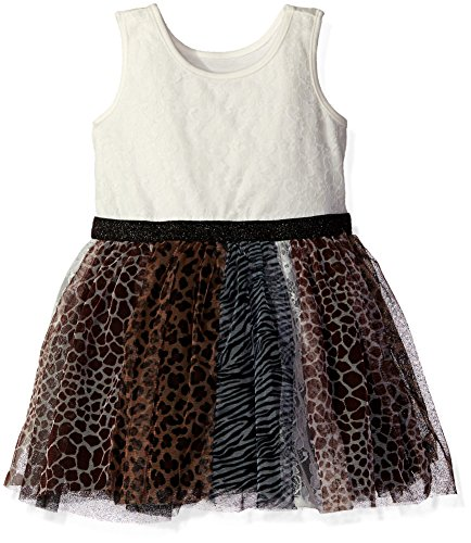 The Children's Place Little Girls and Toddler Animal Print Dress, Tumbleweed, 5T (Animal Dress For Kids)