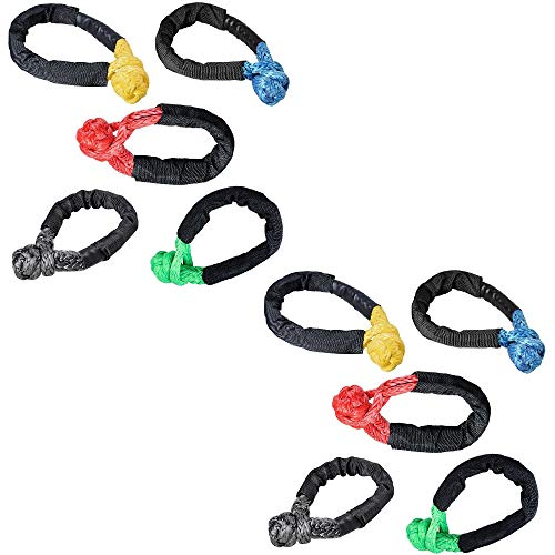 2X, Green Yellow Astra Depot Set 1//2 Soft Shackle Rope Synthetic with Protective Sleeve 38,000LBs Max Breaking WLL 15,000LBs 7.5 Tons