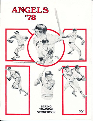 March 25 1978 California Angels Cubs Program spring training